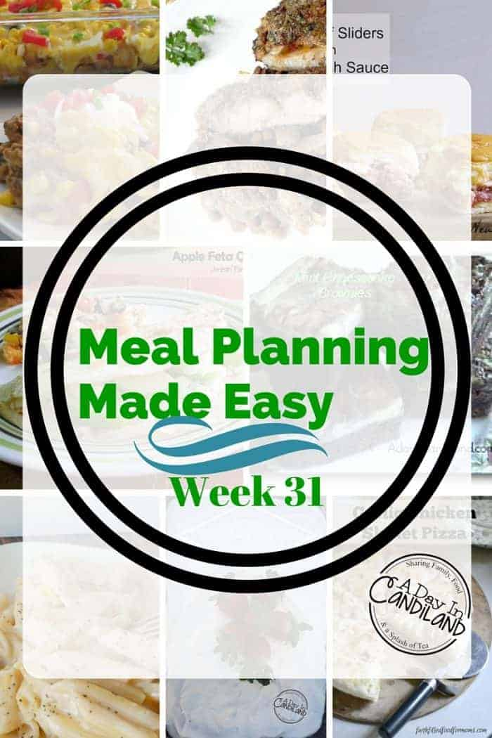 Meal Planning made easy week 31