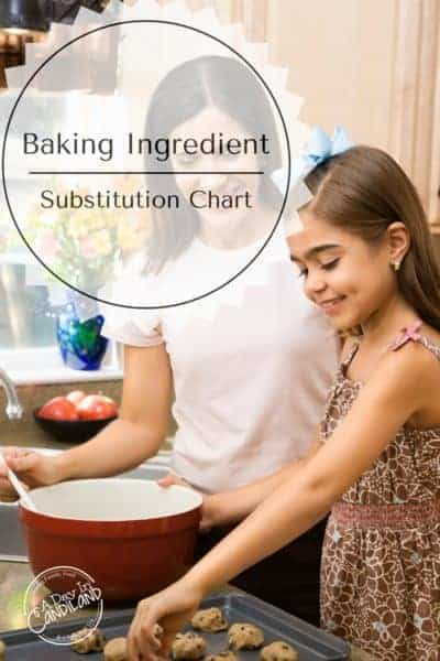 Baking Substitutions Chart When You Run Out of Ingredients