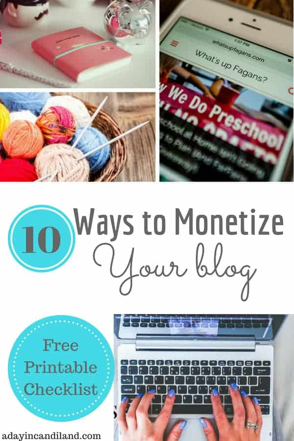 10 Ways to Monetize Your Blog with Free Checklist (1)