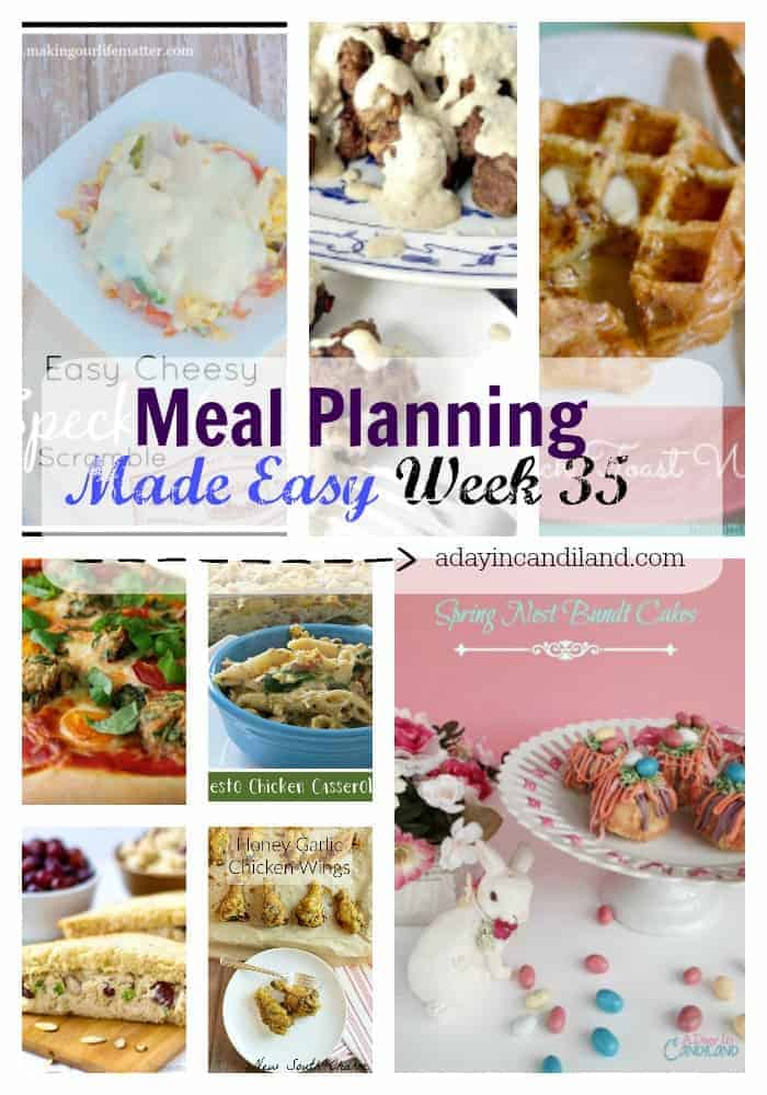 Meal Planning Made Easy Week 35 plus free shopping list printable