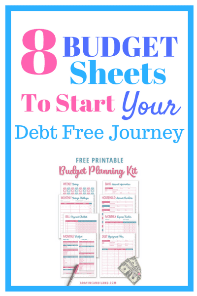 Create A Simple Monthly Budget Template with 8 Printables
