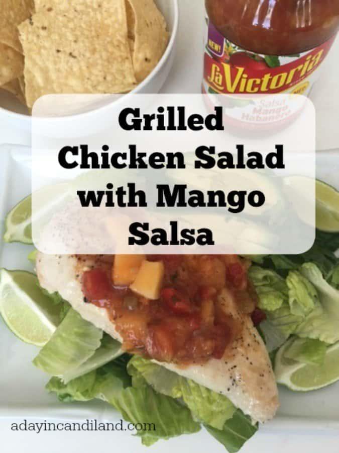 Grilled Chicken Salad with Mango Salsa