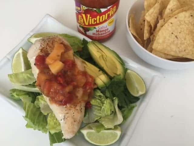 Chicken Salad with La Victoria Salsa
