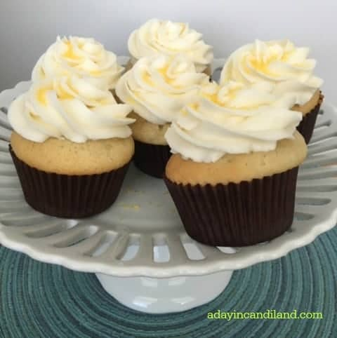 Lemon Curd Filled Cupcakes