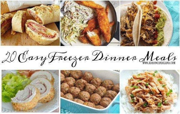 20 Easy Freezer Meals