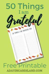 Grateful List and Printable