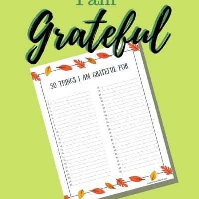 Grateful List: 50 Things to be Grateful For