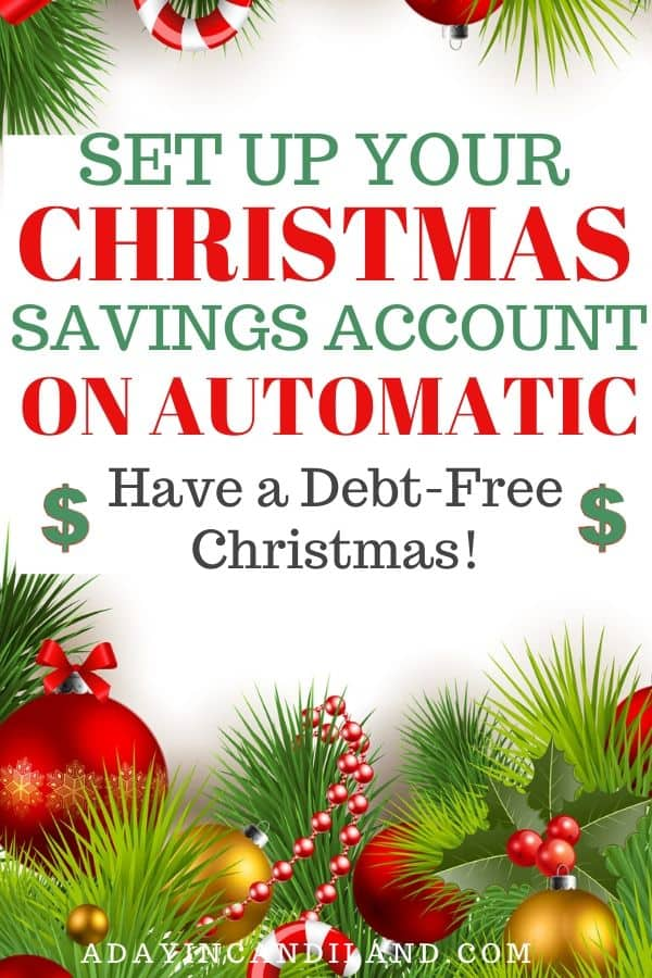 Christmas Budget Savings Account