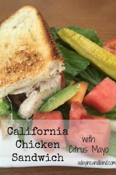 California Chicken Sandwich with Citrus Mayo