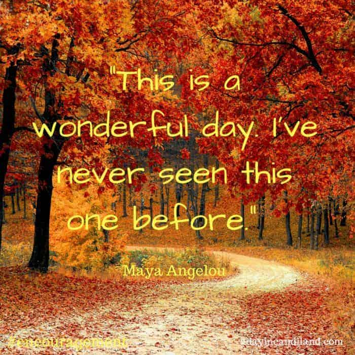 This a wonderful day. I've never seen this one before. #encouragement Maya Angelou Thankful Grateful