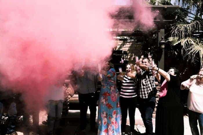 Gender Reveal It's a girl rocket explosion