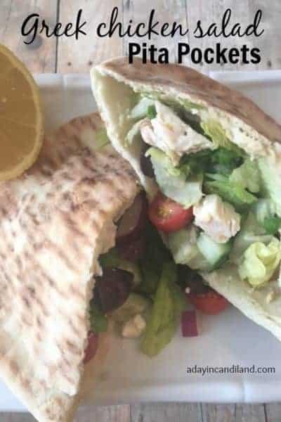 Grilled Chicken Salad Pita Pocket