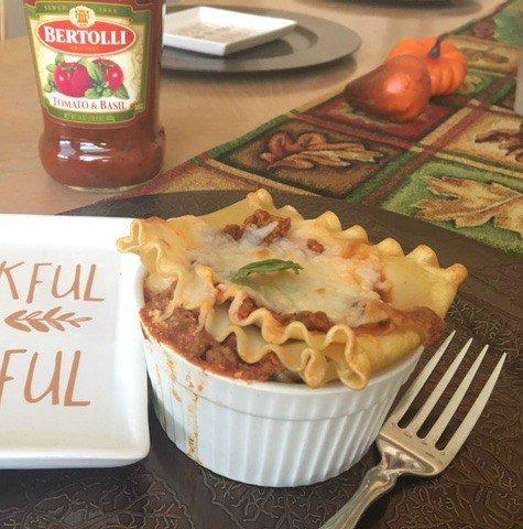individual-lasagna-in-ramekins-made-with-bertolli-sauce