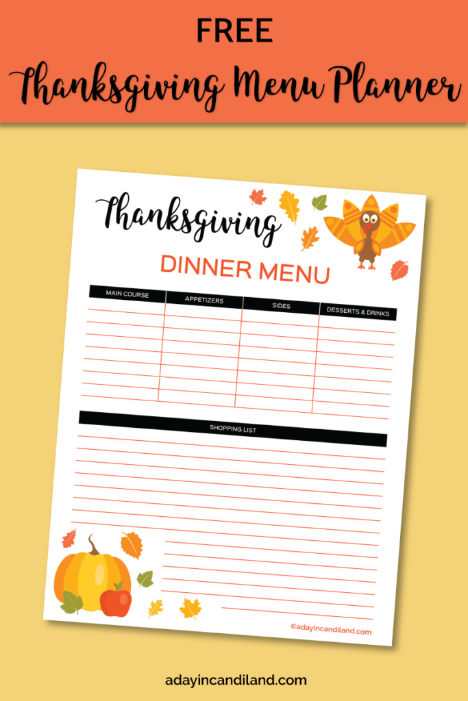 Thanksgiving Planner preview. #candiland