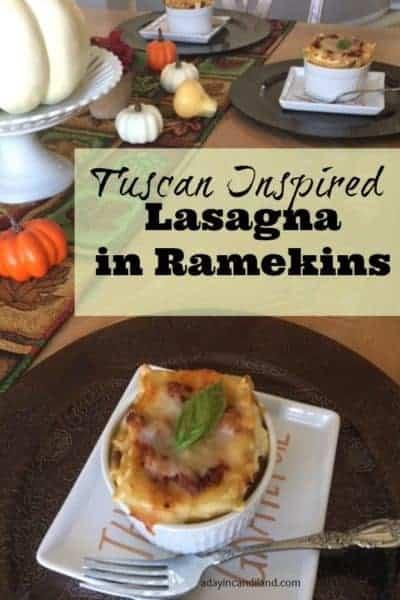 Tuscan Inspired Lasagna in Ramekins