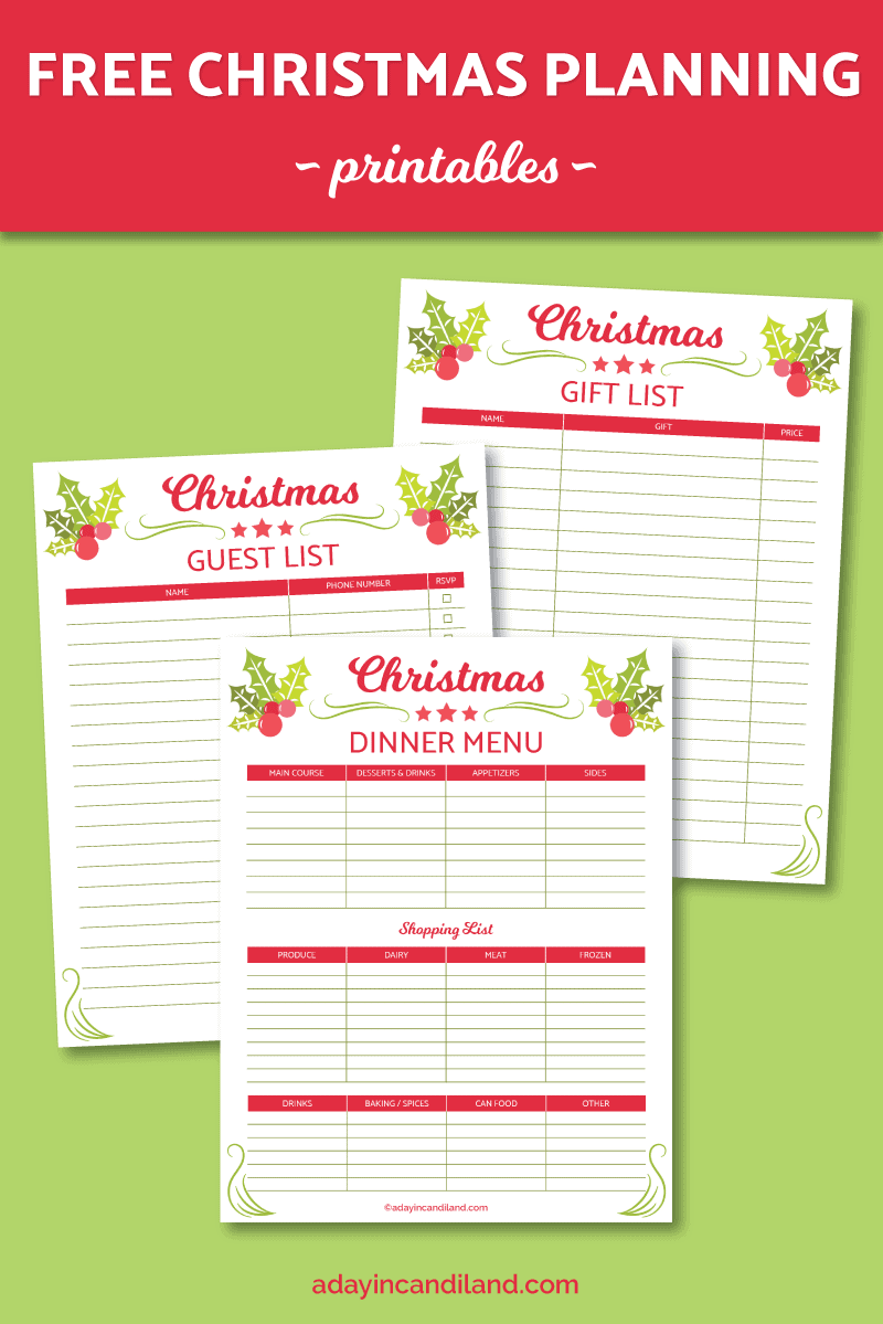 Christmas Planning List with Printables