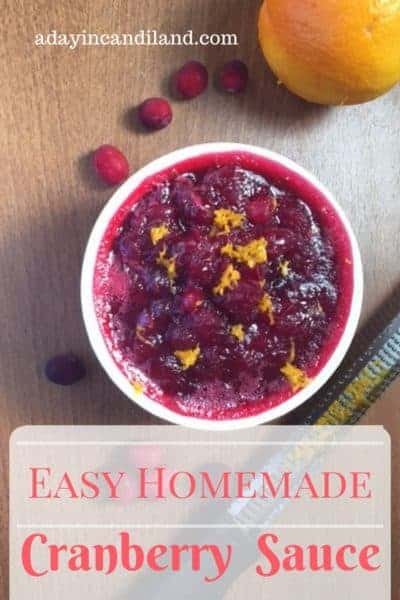 Easy Homemade Cranberry Sauce with Orange Zest