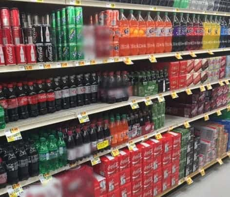 Coca Cola Aisle in Stater Bros
