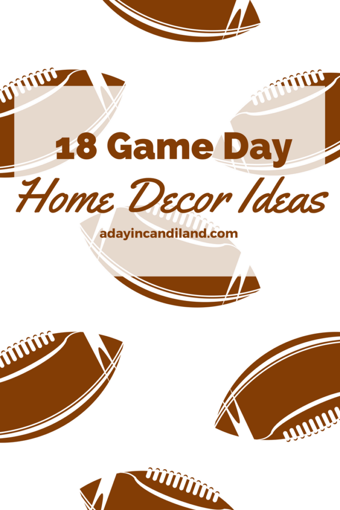 Gameday home party decor ideas