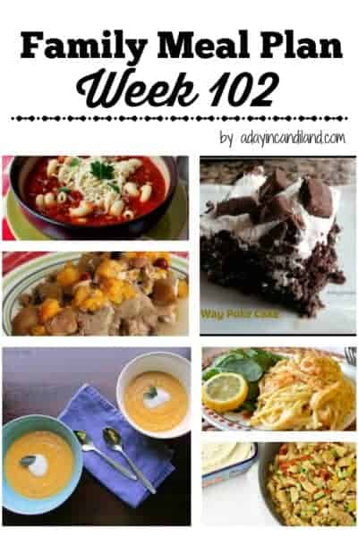 Easy Weekday Family Meal Plan 102