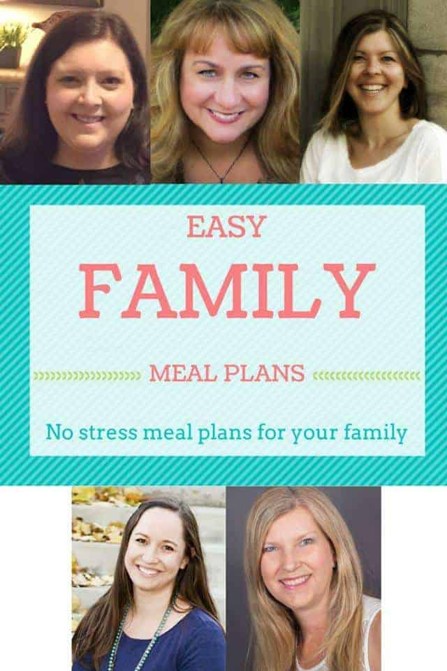 Easy Family Meal Plans no stress meal plans for your family