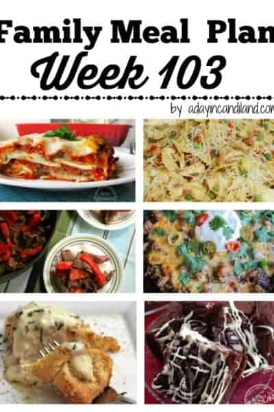 Easy Weekday Family Meal Plan 103