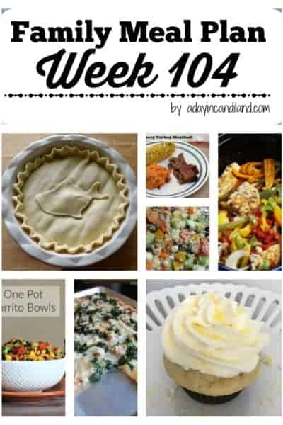 Easy Family Meal Plan 104