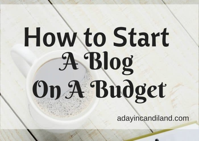 How to Start a blog on a budget sidebar image