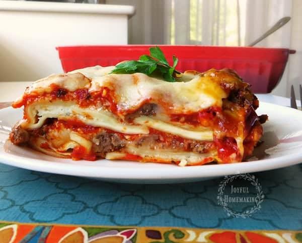 Ravioli Lasagna Menu plan 103