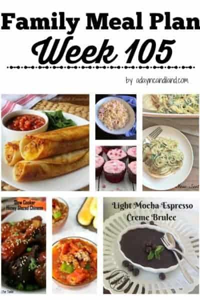 Easy Family Meal Plan 105