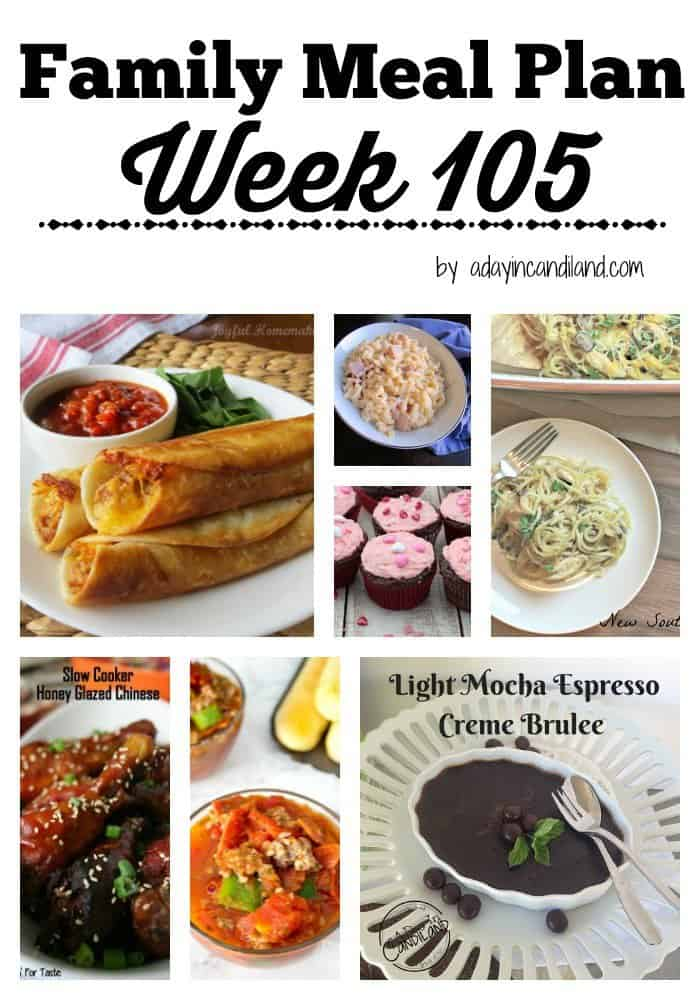 Easy Family Meal Plan week 105 for busy moms