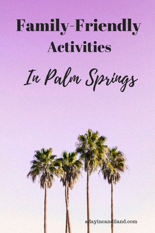 Family Friendly Activities in Palm Springs CA
