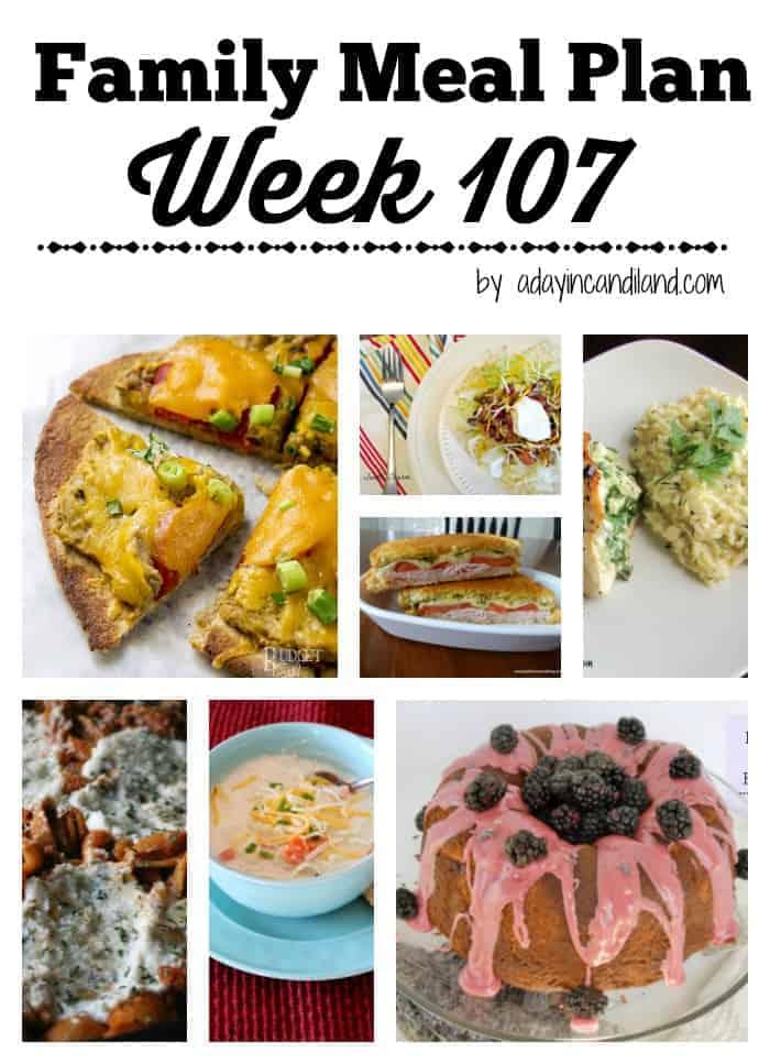 Family Meal Plan Week 107