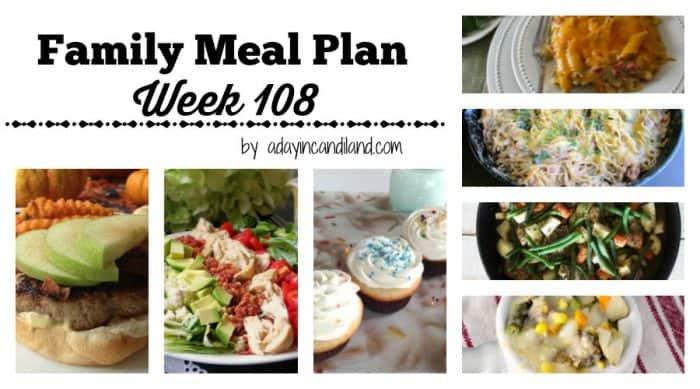 Family Meal Plan Week 108 facebook image