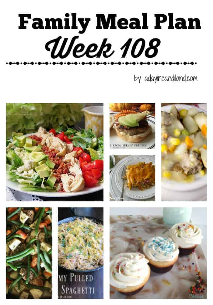 Easy Family Meal Plan 108 for busy moms
