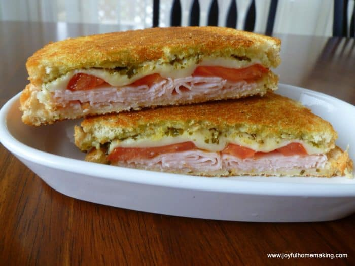 Grilled cheese with tomato and pesto meal plan 107