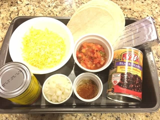 Ingredients for Beef Black Beans Enchiladas