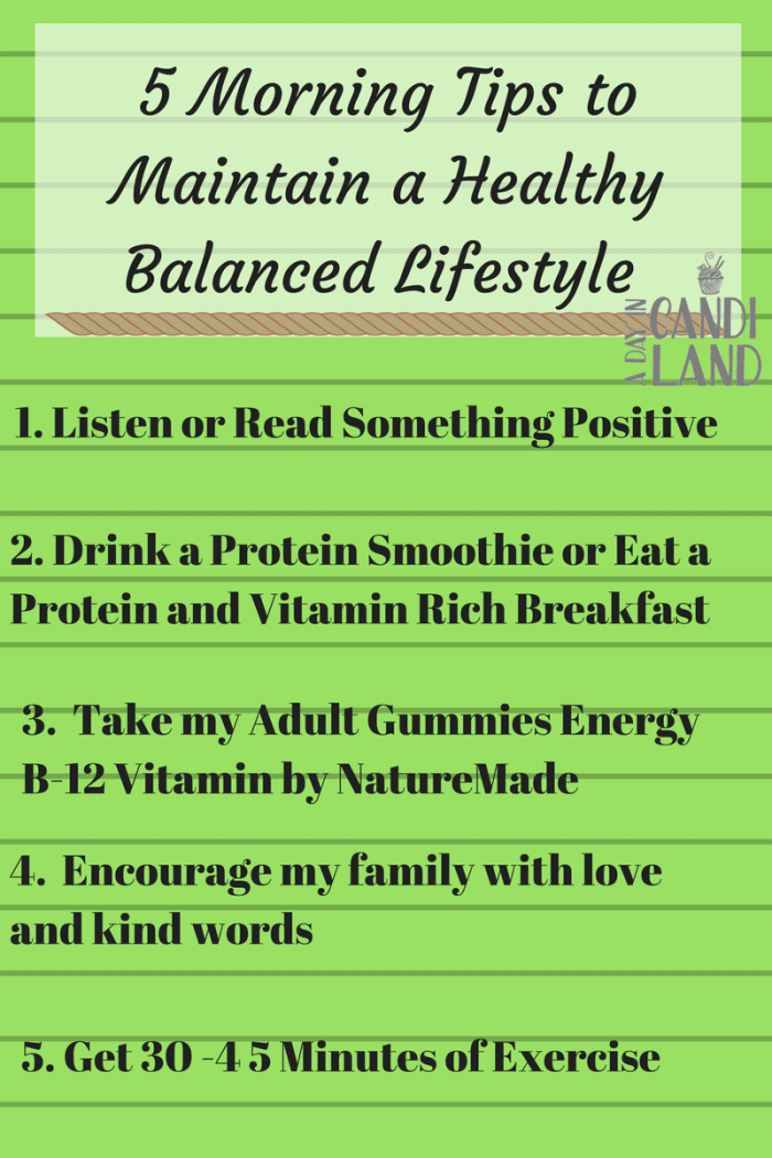 5 Daily Tips for Maintaining a Healthy Balanced Life