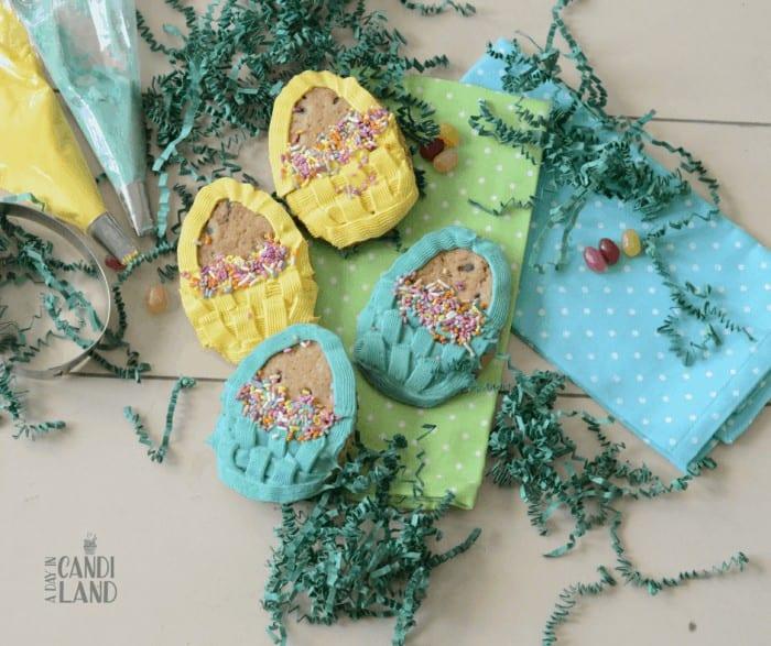 DIY Spring Basket Chocolate Chip Cookies