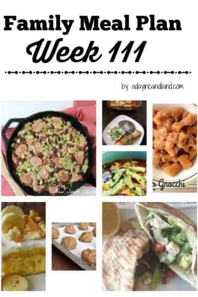 Easy Family Meal Plan 111