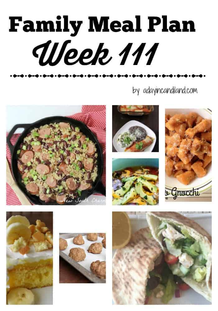 Easy Family Meal Plan Week 111