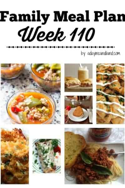 Easy Family Meal Plan 110