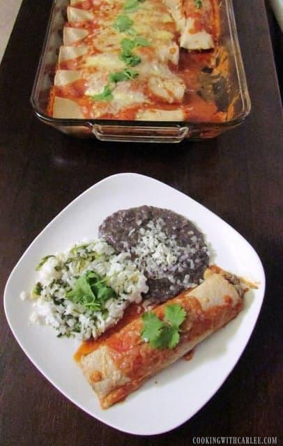 Jess Served enchilladas meal plan 111
