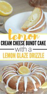 Lemon Cream Cheese Bundt Cake with Lemon Glaze Drizzle
