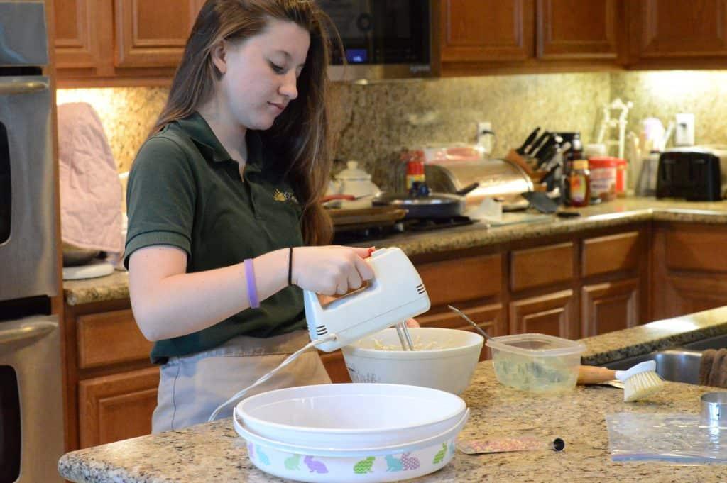 Sydney Mixing cookies Spring Basket