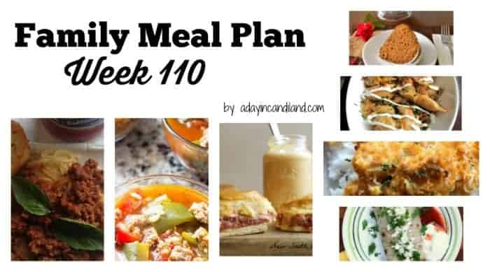 family meal plan week 110