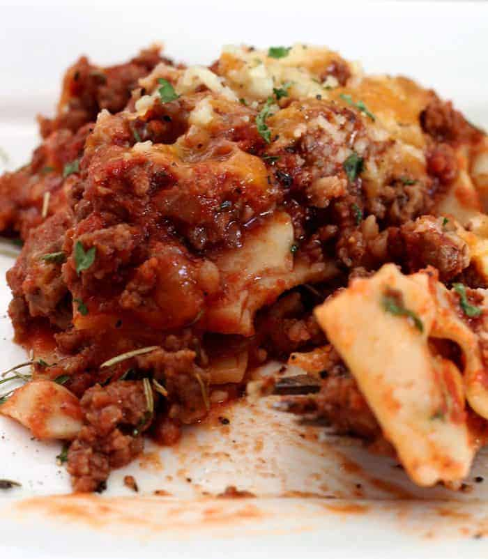 lasagna meal plan 112