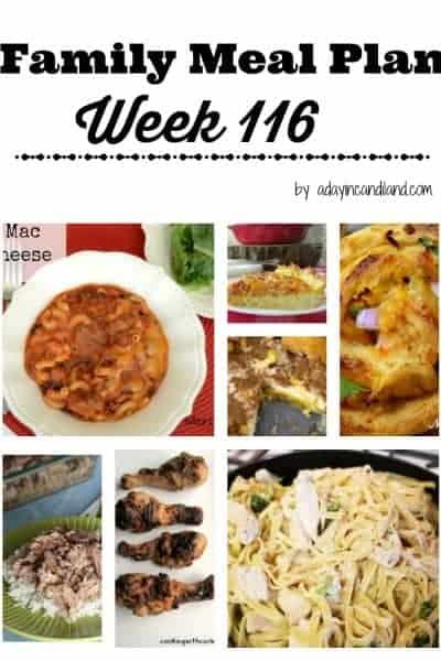 Easy Family Meal Plan 116