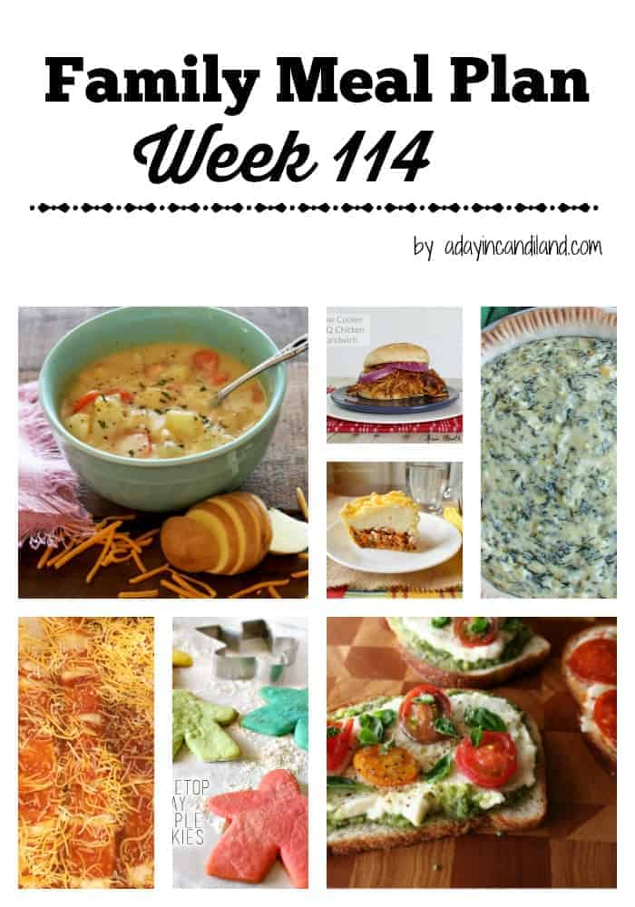 Family Meal Plan 114 including 6 dinners and 1 dessert
