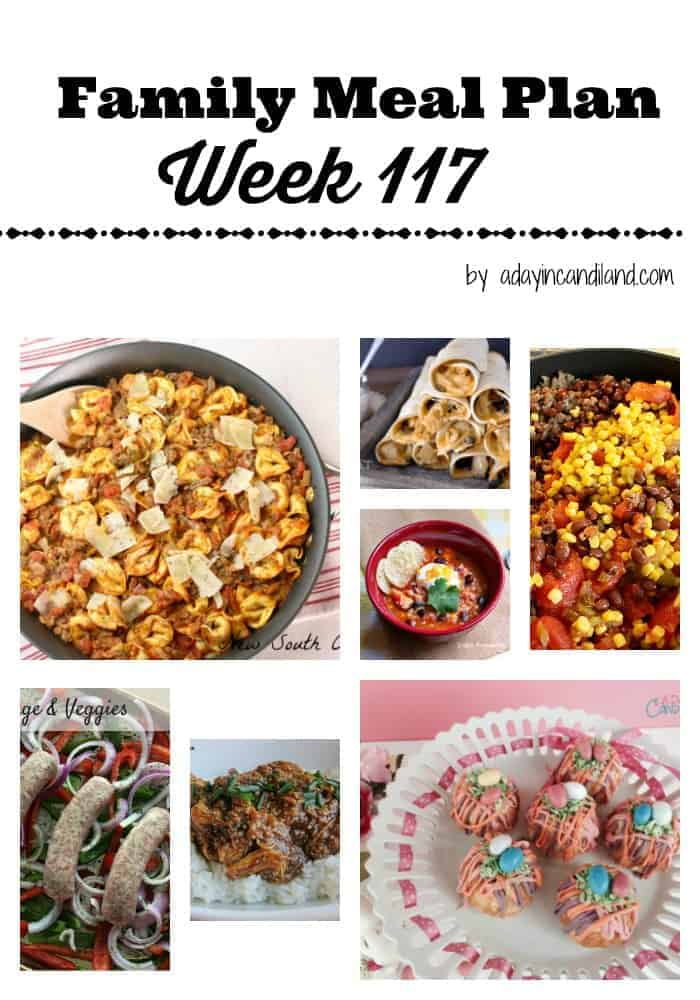 Family Meal Plan week 117 for busy moms